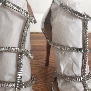 SCHUTZ Shoes - Schutz Crystal Sandal Heels